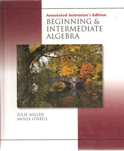 9780072965346: Annotated Instructor's Edition Beginning & Intermediate Algebra