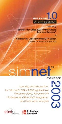 9780072966213: SimNet for Office 2003 Enterprise/Blackboard/WebCT Edition Office Suite