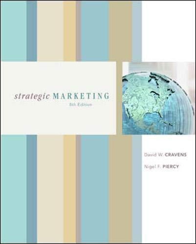 9780072966343: Strategic Marketing (MCGRAW HILL/IRWIN SERIES IN MARKETING)