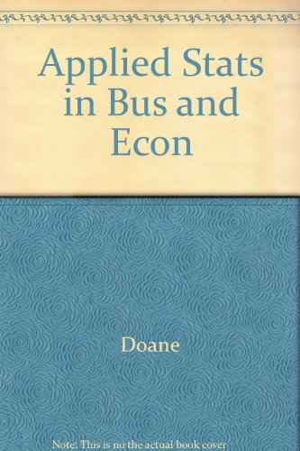 9780072966930: Applied Stats in Bus and Econ