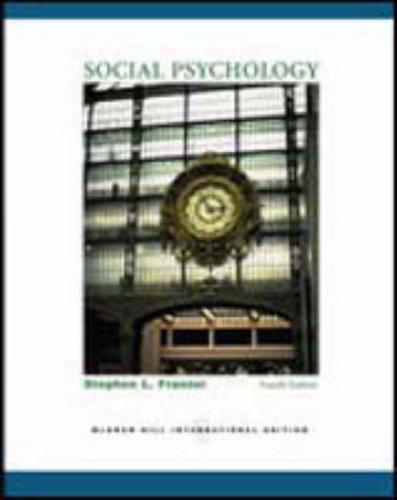 9780072967470: Social Psychology