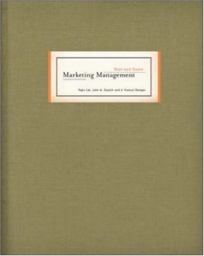 9780072967623: Marketing Management Text and Cases