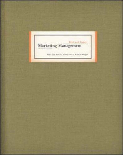 9780072967623: Marketing Management Text and Cases (McGraw-Hill/Irwin Series in Marketing)