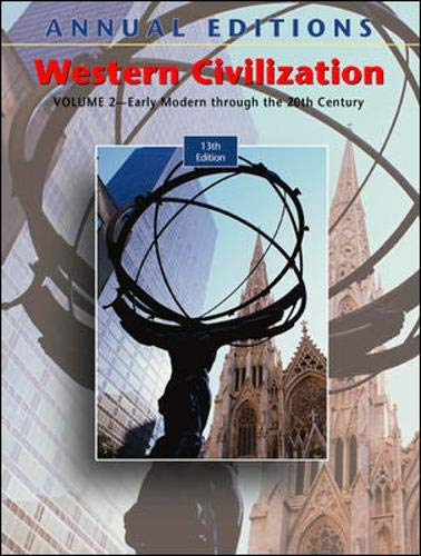 9780072968774: Annual Editions: Western Civilization, Volume 2