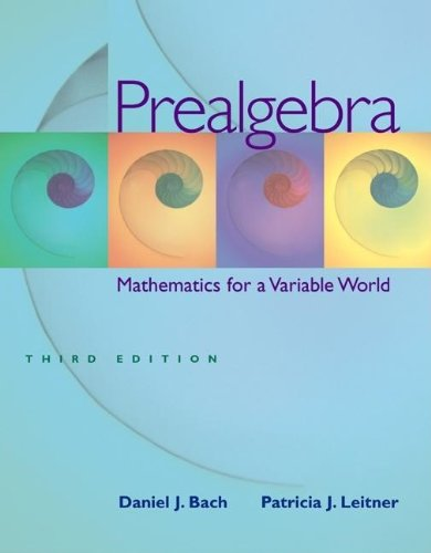 9780072969108: Prealgebra: Mathematics for a Variable World