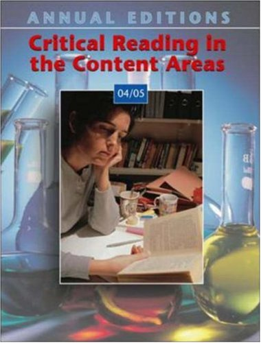 9780072970739: Annual Editions: Critical Reading in the Content Areas 04/05