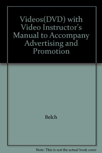 9780072971385: Videos(DVD) with Video Instructor's Manual to Accompany Advertising and Promotion