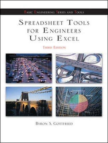 Spreadsheet Tools for Engineers using Excel (McGraw-Hill's Best: Basic Engineering Series and ...