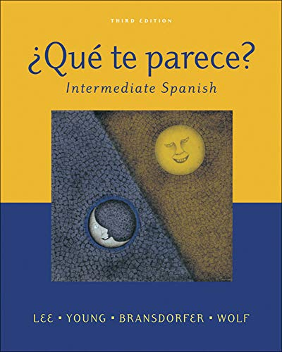9780072972108: ¿Qué te parece? Intermediate Spanish Student Edition with Online Learning Center Bind- In Card