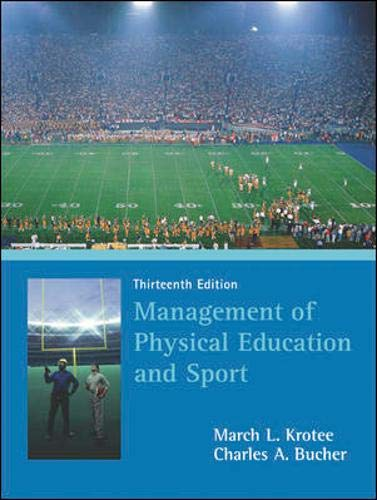 9780072972924: Management of Physical Education and Sport