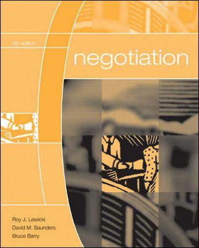 9780072973075: Negotiation