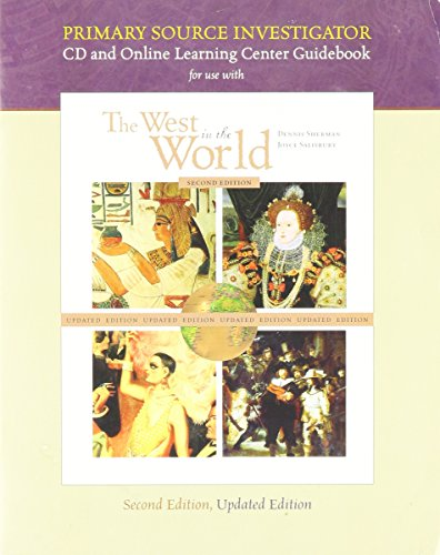 9780072973211: CD and Online Learning Center Guidebook for use with The West in the World, Second Edition