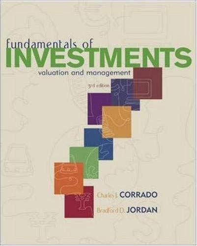9780072974553: Fundamentals of Investments: Valuation and Management (The Mcgraw-Hill/Irwin Series in Finance, Insurance, and Real Estate)
