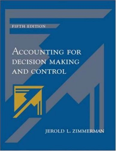 9780072975864: Accounting for Decision Making and Control