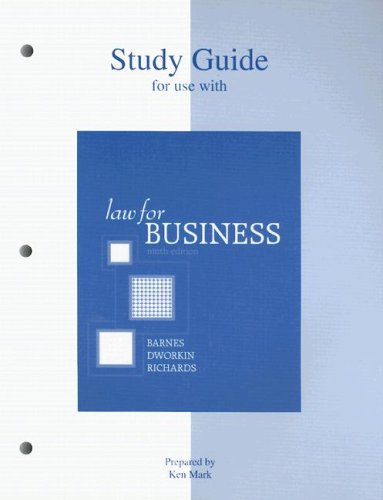 9780072976151: Study Guide to accompany Law for Business
