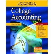 9780072976472: College Accounting: Study Guide & Working Papers (Chap. 14-25)