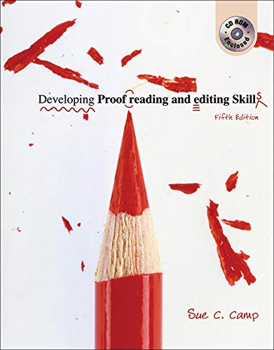 9780072976557: Developing Proofreading and Editing Skills w/ Student CD-ROM Package