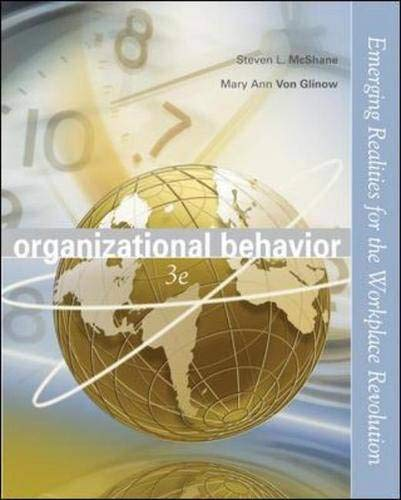 9780072976861: Organizational Behavior with Student CD and OLC/PowerWeb card