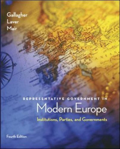 9780072977066: Representative Government in Modern Europe