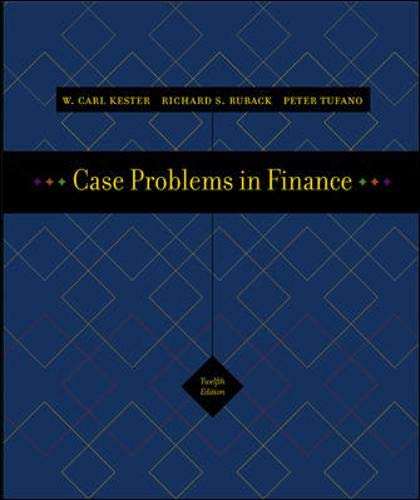 9780072977295: Case Problems in Finance + Excel templates CD-ROM (Irwin Series in Finance, Insurance, and Real Estate,)