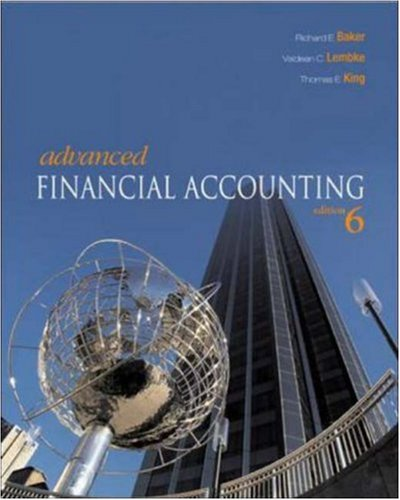 9780072977356: Advanced Financial Accounting with Online Learning Center with PowerWeb Card