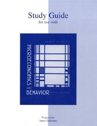 9780072977462: Study Guide for Use with Microeconomics and Behavior