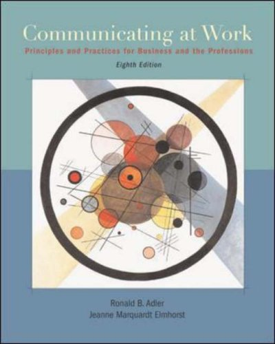 9780072977509: Communicating at Work: Principles and Practices for Business and Professionals with Student CD-ROM and PowerWeb