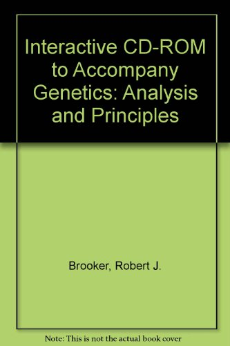 9780072978223: Interactive CD-ROM to accompany Genetics: Analysis and Principles
