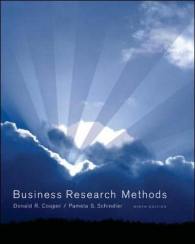 9780072979237: Business Research Methods (McGraw-Hill/Irwin)