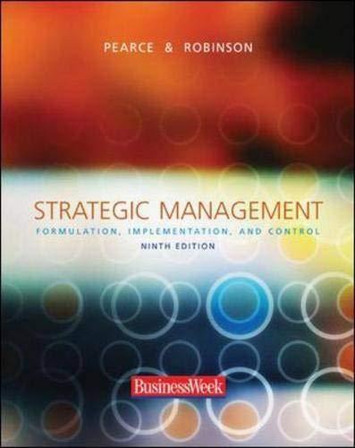 9780072980073: Strategic Management: Formulation, Implementation, and Control