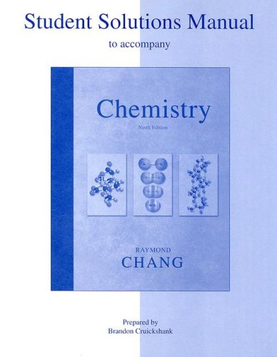 9780072980615: Student Solutions Manual to accompany Chemistry