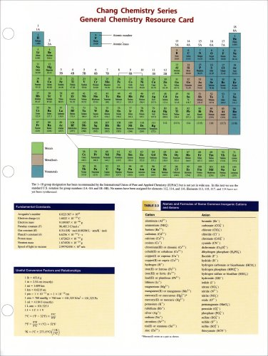 9780072980646: Study Cards to accompany Chemistry (Chang Chemistry Series)