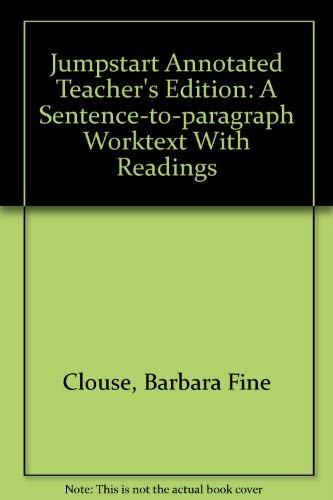 9780072982046: Jumpstart Annotated Teacher's Edition: A Sentence-to-paragraph Worktext With Readings