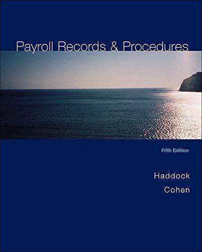 Payroll Records and Procedures: M. David Haddock