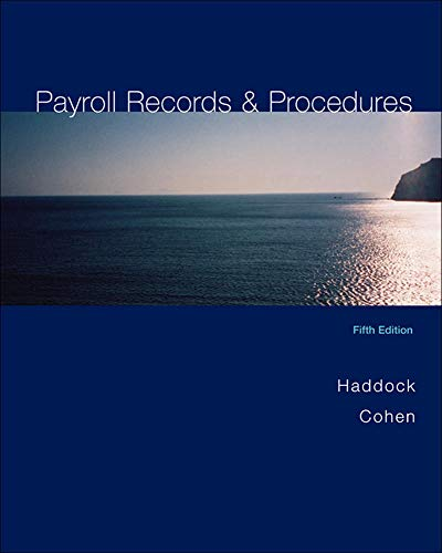 9780072982435: Payroll Records and Procedures