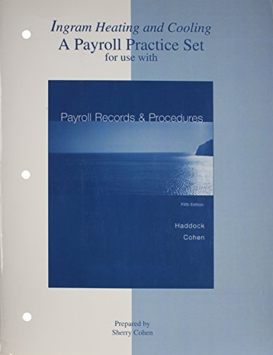 Practice Set to accompany Payroll Records And: HADDOCK