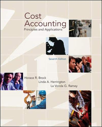 9780072982480: Cost Accounting: Principles and Applications