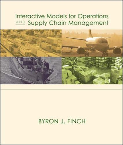 9780072982749: Interactive Models for Operations and Supply Chain Management 1e with CD