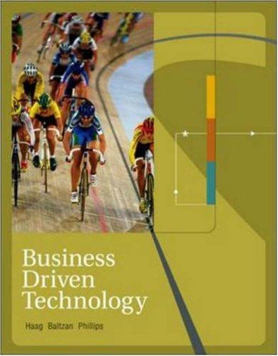 9780072983012: Business Driven Technology