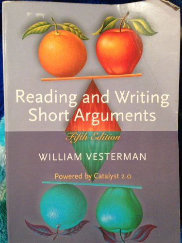 9780072983661: Reading and Writing Short Arguments