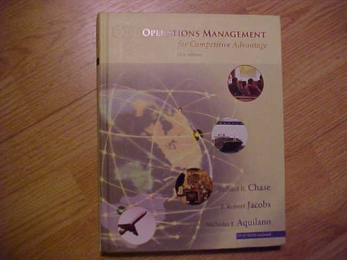 9780072983906: Operations Management for Competitive Advantage (McGraw-Hill/Irwin Series Operations and Decision Sciences)