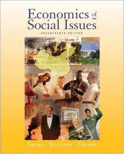 9780072984354: Economics of Social Issues