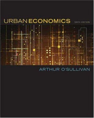 9780072984767: Urban Economics