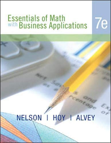9780072985993: Essentials of Math with Business Applications, Student Edition