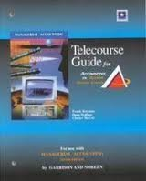 9780072986112: Telecourse Study Guide to accompany Managerial Accounting
