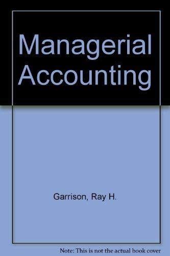 9780072986174: Managerial Accounting