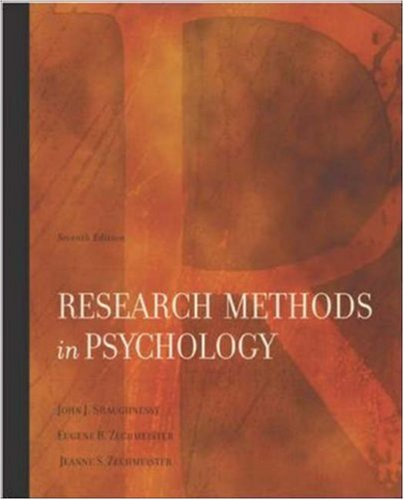 9780072986228: Research Methods In Psychology