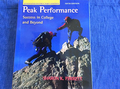 9780072986969: Peak Performance: Success in College and Beyond