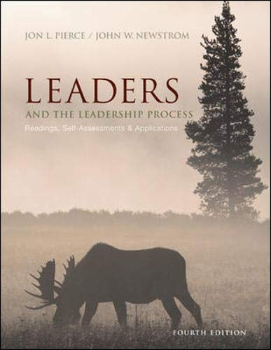 9780072987430: Leaders and the Leadership Process: Readings, Self-Assessments, and Applications