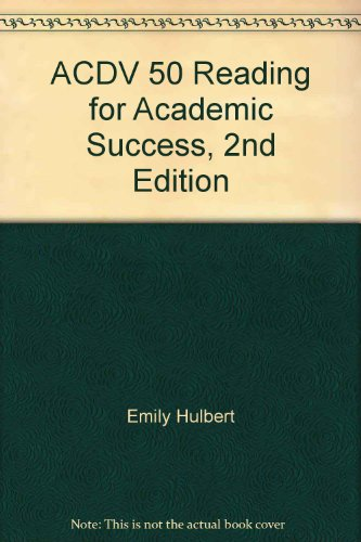 9780072987652: ACDV 50 Reading for Academic Success, 2nd Edition